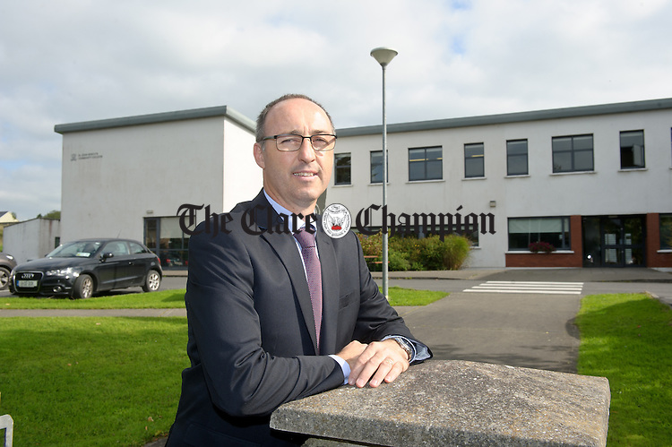 Liam O Mahoney, the new principal at St John Bosco Secondary School, Kildysart. Photograph by John Kelly.