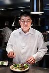"Tokyo, January 10 2013 - Portrait of the chef Yoshihiro Narisawa at his restaurant ""Narisawa"" in the Aoyama area."
