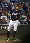 Reno Aces' Carlos Rivero makes a play at Greater Nevada Field, in Reno, Nev., on Wednesday, Aug. 10, 2016.  <br /> Photo by Cathleen Allison