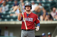 Lehigh Valley IronPigs first baseman Tommy Joseph (22) during a game against the Columbus Clippers on May 12, 2016 at Huntington Park in Columbus, Ohio.  Lehigh Valley defeated Columbus 2-1.  (Mike Janes/Four Seam Images)