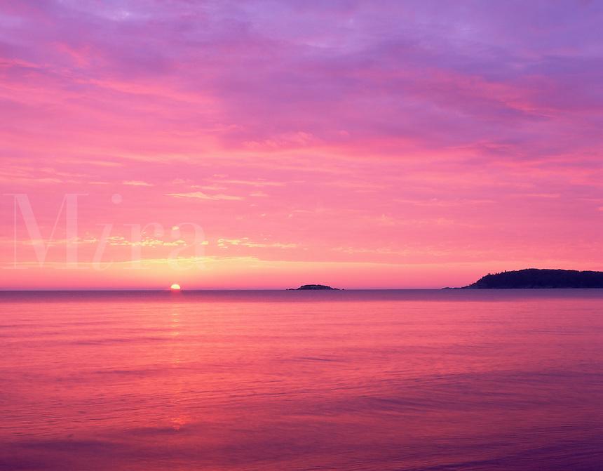 Sunrise over Lake Superior, Escanaba State Forest, Michigan