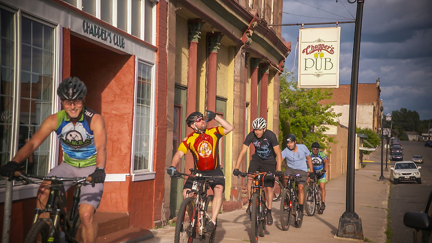 VIDEO FRAME-RAMBA Wednesday night group ride through Chappers Pub in Negaunee.