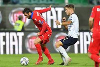 Armenia's Hayk Ishkhanyan challenge for the ball with Italy's Ciro Immobile <br /> Palermo 18-11-2019 Stadio Renzo Barbera <br /> UEFA European Championship 2020 qualifier group J <br /> Italy - Armenia <br /> Photo Carmelo Imbesi / Insidefoto