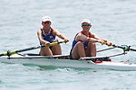 Akiho Takano & Kana Nishihara (JPN), <br /> AUGUST 19, 2018 - Rowing : <br /> Women's pair  Heat <br /> at Jakabaring Sport Center Lake <br /> during the 2018 Jakarta Palembang Asian Games <br /> in Palembang, Indonesia. <br /> (Photo by Yohei Osada/AFLO SPORT)