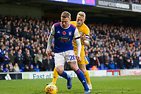 Freddie Sears of Ipswich Town under pressure from Tom Clarke of Preston North End during Ipswich Town vs Preston North End, Sky Bet EFL Championship Football at Portman Road on 3rd November 2018