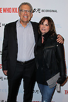 "HOLLYWOOD, LOS ANGELES, CA, USA - FEBRUARY 26: Carlton Cuse, Kerry Ehrin at the Premiere Party For A&E's Season 2 Of ""Bates Motel"" & Series Premiere Of ""Those Who Kill"" held at Warwick on February 26, 2014 in Hollywood, Los Angeles, California, United States. (Photo by Xavier Collin/Celebrity Monitor)"