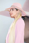 Lady Gaga poses for the cameras during a press conference for her new album Joanne in Tokyo on November 2, 2016, Japan. (Photo by Rodrigo Reyes Marin/AFLO)