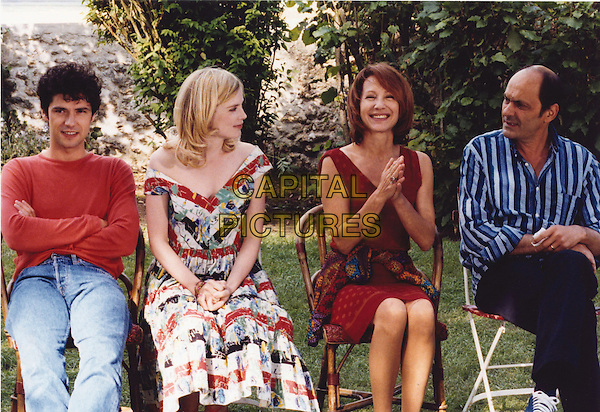 MELVIL POUPAUD, ISABELLE CARRE, NATHALIE BAYE & JEAN PIERRE BACRI.in Les Sentiments.Filmstill - Editorial Use Only.Ref: FB.sales@capitalpictures.com.www.capitalpictures.com.Supplied by Capital Pictures.
