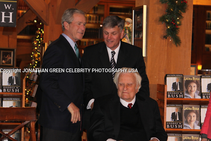 George W. Bush,Billy Graham,Franklin Graham,At Book Signing By Jonathan Green
