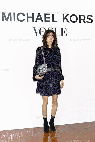 Japanese model Sayo Yoshida attends the photo call for the event ''Michael Kors Watch Hunger Stop Charity Gala Dinner in Tokyo'' at the Riva degli Etruschi restaurant onNovember 13, 2017, Tokyo, Japan. The event was organised in collaboration with VOGUE JAPAN to raise money for delivering meals to malnourished children around the world. (Photo by Rodrigo Reyes Marin/AFLO)