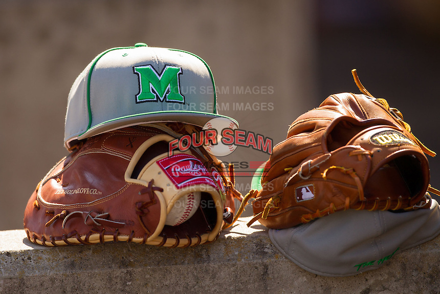 The Marshall Thundering Herd took on the Georgetown Hoyas in NCAA baseball action at Wake Forest Baseball Park on February 15, 2014 in Winston-Salem, North Carolina.  The Thundering Herd defeated the Hoyas 5-1.  (Brian Westerholt/Four Seam Images)