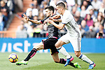 Real Madrid's Lucas Vazquez (r) and RCD Espanyol's Aaron Martin during La Liga match. February 18,2017. (ALTERPHOTOS/Acero)