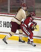 Taylor Wasylk (BC - 9), Jillian Dempsey (Harvard - 14) - The Boston College Eagles defeated the visiting Harvard University Crimson 3-1 in their NCAA quarterfinal matchup on Saturday, March 16, 2013, at Kelley Rink in Conte Forum in Chestnut Hill, Massachusetts.
