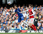 Chelsea's Cesc Fabregas tussles with Arsenal's Aaron Ramsey during the premier league match at Stamford Bridge Stadium, London. Picture date 17th September 2017. Picture credit should read: David Klein/Sportimage