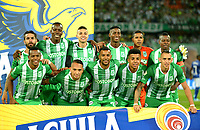 MEDELLÍN-COLOMBIA, 01-09-2019: Jugadores de Atlético Nacional, posan para una foto, antes partido de la fecha 9 entre Atlético Nacional y Millonarios, por la Liga Águila II 2019, jugado en el estadio Atanasio Girardot de la ciudad de Medellín. / Players of Atletico Nacional pose for a photo, prior a match of the 9th date between Atletico Nacional and Millonarios, for the Aguila Leguaje II 2019 played at the Atanasio Girardot Stadium in Medellin city. / Photo: VizzorImage / León Monsalve / Cont.