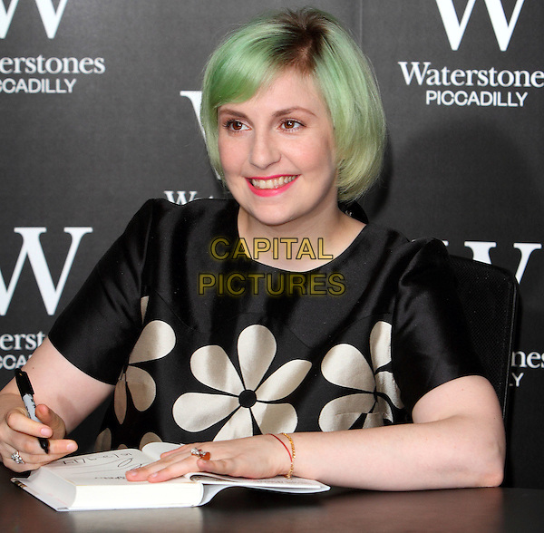 LONDON, ENGLAND - OCTOBER 29: Lena Dunham Book Signing 'Not That Kind of Girl' at Waterstones Piccadilly, on October 29, 2014 in London, England.<br /> CAP/ROS<br /> &copy;Steve Ross/Capital Pictures