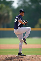 New York Yankees James Reeves (29) during a minor league Spring Training game against the Pittsburgh Pirates on April 1, 2016 at Pirate City in Bradenton, Florida.  (Mike Janes/Four Seam Images)