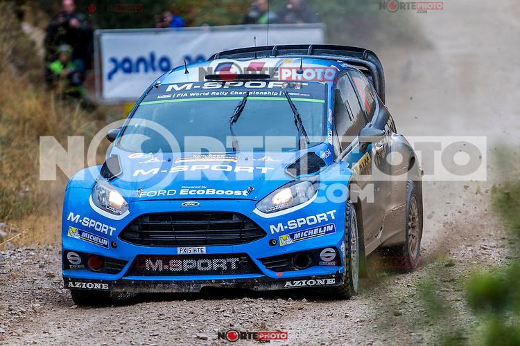 CAMILI Eric / VEILLAS Benjamin (Ford Fiesta RS WRC) during the World Rally Car RACC Catalunya Costa Dourada 2016 / Rally Spain, in Catalunya, Spain. October 15, 2016. (ALTERPHOTOS/Rodrigo Jimenez) NORTEPHOTO.COM