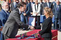 Prime Minister Mariano Rajoy, delivered the medal to family died in a fire safety campaign