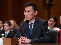 Kenneth Kiyul Lee testifies before the United States Senate Committee on the Judiciary on his nomination to be United States Circuit Judge For The Ninth Circuit on Capitol Hill in Washington, DC on Wednesday, March 13, 2019.<br /> Credit: Ron Sachs / CNP/AdMedia