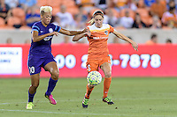 Lianne Sanderson (10) of the Orlando Pride and Morgan Brian (6) of the Houston Dash battle for control of the ball on Friday, May 20, 2016 at BBVA Compass Stadium in Houston Texas. The Orlando Pride defeated the Houston Dash 1-0.