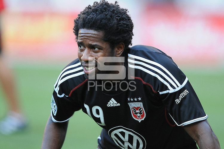 DC United midfielder Clyde Simms (19)  The Columbus Crew defeated DC United 1-0 at RFK Stadium, Saturday September 4, 2010.