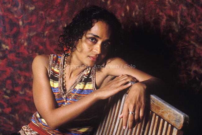 Arundhati Roy in Paris to promote her book.