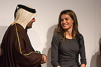 Letizia Ortiza and Abdulla bin Ali Al Thani at 4th Teaching Awards to education stakeholders