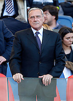 Calcio, finale di Coppa Italia: Roma vs Lazio. Roma, stadio Olimpico, 26 maggio 2013..Italian Senate President Pietro Grasso looks on prior to the start of the Italian Cup football final match between AS Roma and Lazio at Rome's Olympic stadium, 26 May 2013..UPDATE IMAGES PRESS/Isabella Bonotto....