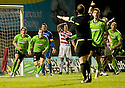 12/01/2011   Copyright  Pic : James Stewart.sct_jsp010_hamilton_v_celtic  .::  ANTHONY STOKES STARTS HIS CELEBRATIONS AFTER HE HEADS THE BALL INTO THE NET BUT IT'S DISALLOWED BY THE ASSISTANT REFEREE ON THE STAND SIDE ::.James Stewart Photography 19 Carronlea Drive, Falkirk. FK2 8DN      Vat Reg No. 607 6932 25.Telephone      : +44 (0)1324 570291 .Mobile              : +44 (0)7721 416997.E-mail  :  jim@jspa.co.uk.If you require further information then contact Jim Stewart on any of the numbers above.........