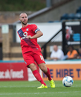 Russell Penn of York City in action during the Sky Bet League 2 match between Wycombe Wanderers and York City at Adams Park, High Wycombe, England on 8 August 2015. Photo by Andy Rowland.