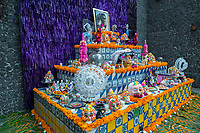 Mexico, Mexico City. Day of the dead, altar for Frida Kahlo at her house.