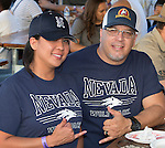 Alison and Robert Pagan from Reno during Wolf Pack Night at the Reno Rodeo on Wednesday, June 22, 2016.