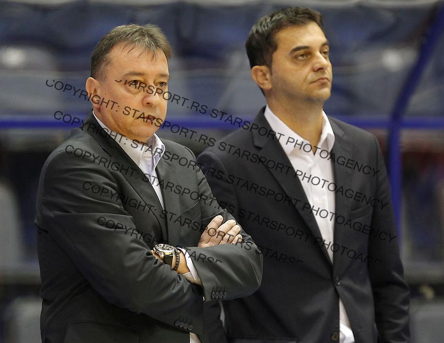 Kosarka ABA League season 2014-2015<br /> Crvena Zvezda v Igokea<br /> Head coach Zeljko Lukajic  (L) and Darko Cubrilovic team manager<br /> Beograd, 15.12.2014.<br /> foto: Srdjan Stevanovic/Starsportphoto&copy;