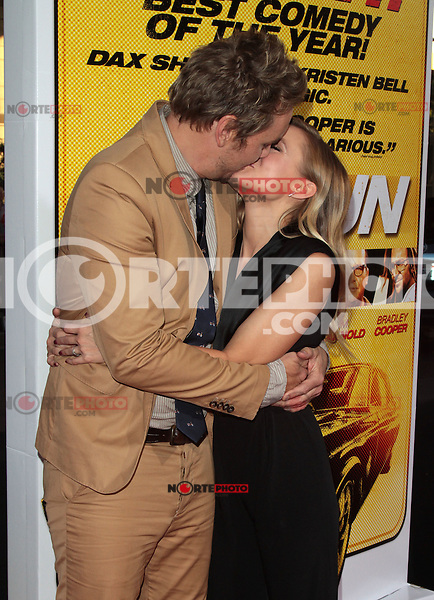 LOS ANGELES, CA - AUGUST 14: Dax Shepard and Kristen Bell arrives at the 'Hit & Run' Los Angeles Premiere on August 14, 2012 in Los Angeles, California mpi21 / Mediapunchinc /NortePhoto.com<br />