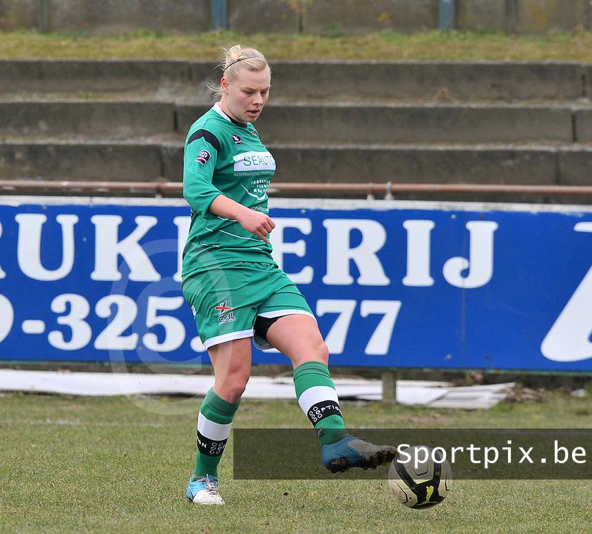 OHL Oud Heverlee Leuven : Ella Van Kerkhoven.foto DAVID CATRY / Vrouwenteam.be