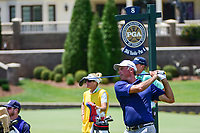 Matt Kuchar (USA) watches his tee shot on 8 during Saturday's round 3 of the PGA Championship at the Quail Hollow Club in Charlotte, North Carolina. 8/12/2017.<br /> Picture: Golffile | Ken Murray<br /> <br /> <br /> All photo usage must carry mandatory copyright credit (&copy; Golffile | Ken Murray)