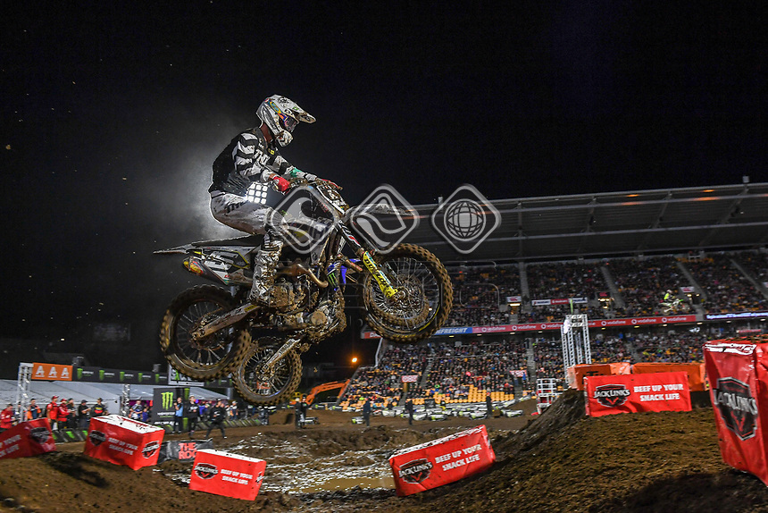 Dylan Wills (AUS)<br /> 2018 SX Open - Auckland / SX 1<br /> FIM Oceania Supercross Championships<br /> Mt Smart Stadium / Auckland NZ<br /> Saturday Nov 24th 2018<br /> © Sport the library/ Jeff Crow / AME