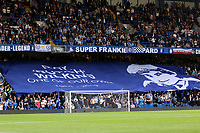 A giant banner with the words, Ray Wilkins, One of Our Own is unveiled by the Chelsea fans ahead of kick-off during Chelsea vs Huddersfield Town, Premier League Football at Stamford Bridge on 9th May 2018