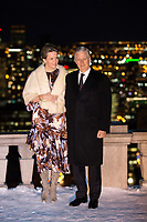 King Philippe & Queen Mathilde of Belgium, on a State Visit to Canada - Montreal view