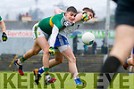 Sean O'Shea  Kerry in action against Dessie Mone Monaghan during the Allianz Football League Division 1 Round 5 match between Kerry and Monaghan at Fitzgerald Stadium in Killarney, on Sunday.