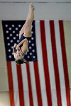 BIRMINGHAM, AL - MARCH 11: Lauren Skinner of Cal Baptist University competes in the 3 meter diving competition during the Division II Men's and Women's Swimming & Diving Championship held at the Birmingham CrossPlex on March 11, 2017 in Birmingham, Alabama. (Photo by Matt Marriott/NCAA Photos via Getty Images)