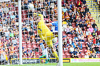 Charlie Wyke of Bradford City scores his third of 3 goals during the Sky Bet League 1 match between Bradford City and Bristol Rovers at the Northern Commercial Stadium, Bradford, England on 2 September 2017. Photo by Thomas Gadd.