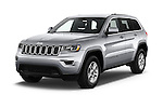 2017 JEEP Grand-Cherokee Laredo 5 Door SUV Angular Front stock photos of front three quarter view