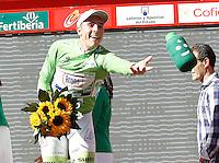 John Degenkolb with the leader's of Points Clasification green jersey after the stage of La Vuelta 2012 between Logroño and Logroño.August 22,2012. (ALTERPHOTOS/Acero) /NortePhoto.com<br /> <br /> **SOLO*VENTA*EN*MEXICO**<br /> **CREDITO*OBLIGATORIO**<br /> *No*Venta*A*Terceros*<br /> *No*Sale*So*third*<br /> *** No Se Permite Hacer Archivo**<br /> *No*Sale*So*third*