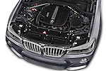 Car Stock 2015 BMW X3 M Sportpakket 5 Door Suv Engine high angle detail view