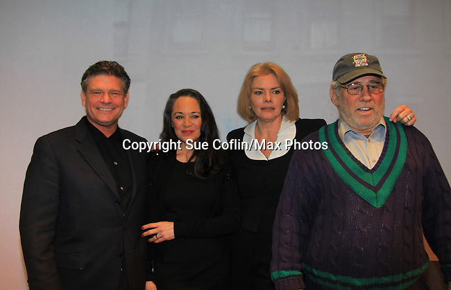 """Young and Restless Victoria Mallory """"Leslie Brooks"""" stars in """"Good Girls Only - the Rehearsal Club Musical""""  and poses with husband Mark Lambert and Guiding Light Denise Pence and husband Steve Boockvor (producers on this show) on March 13, 2013 at the Professional Children's School, New York City, New York. (Photo by Sue Coflin/Max Photos)  917-647-8403"""