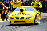 Troy Coughlin (4) driver for the Jegs.com team makes a pass during the O'Reilly Auto Parts Spring Nationals at the Royal Purple Raceway in Baytown,Texas.