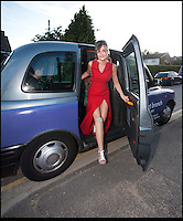BNPS.co.uk (01202) 558833<br /> Picture: Peter Willows<br /> <br /> **exclusive/not online**<br /> <br /> Isabelle Papandronicou arrives at the prom<br /> <br /> Teenage amputee Isabelle Papandronicou has got a new prosthetic leg that has enabled her to wear heels for the first time, just in time for her school prom. Isabelle (15) from Barnet, London, chose to have her right leg amputated last year after several operations to fix a rare bone condition did not work. She has been wearing an NHS limb since then but has been limited to just flat shoes. After hearing about lifelike prosthetics that can be shaped to fit inside heeled footwear, her family started fundraising to get Isabelle a new leg. She has now been fitted with the &pound;5,633 leg by Dorset Orthopaedic in Ringwood, Hampshire, which she showcased at her year 11 leaver's ball.