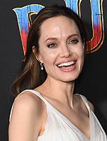 "11 March 2019 - Hollywood, California - Angelina Jolie. ""Dumbo"" Los Angeles Premiere held at Ray Dolby Ballroom. Photo Credit: Birdie Thompson/AdMedia"